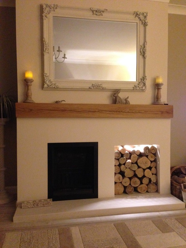 Floating mantel piece