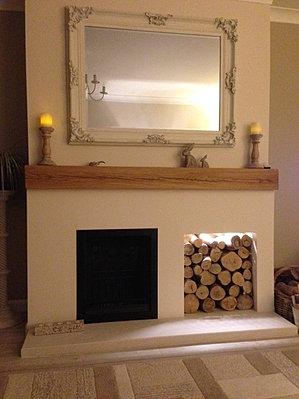 Solid Oak Floating Shelves, Mantels, Fireplace surround ...