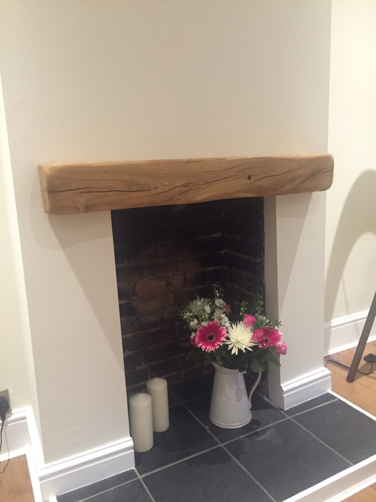 Rustic Oak Fireplace Mantel Piece