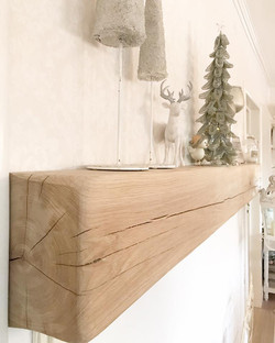 Rustic mantel, scalloped, untreated