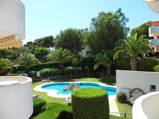 Lush gardens and swiming pool