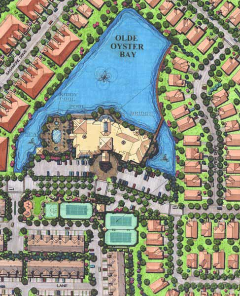 Hamlet on Olde Oyster Bay Rendering