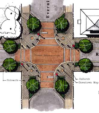 Rosemary St Intersection Rendering