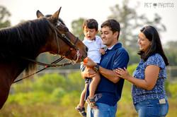 foto de familia com cavalo