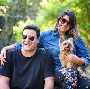 foto familia com cachorro