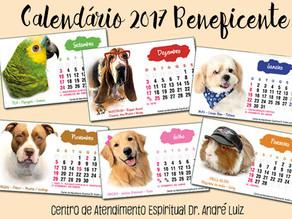 Calendário 2017 Beneficente com Fotos de Cachorros
