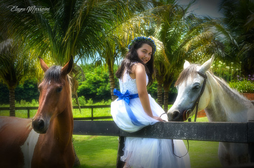 menina e cavalos