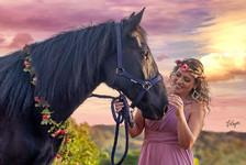 cavalos e mulheres
