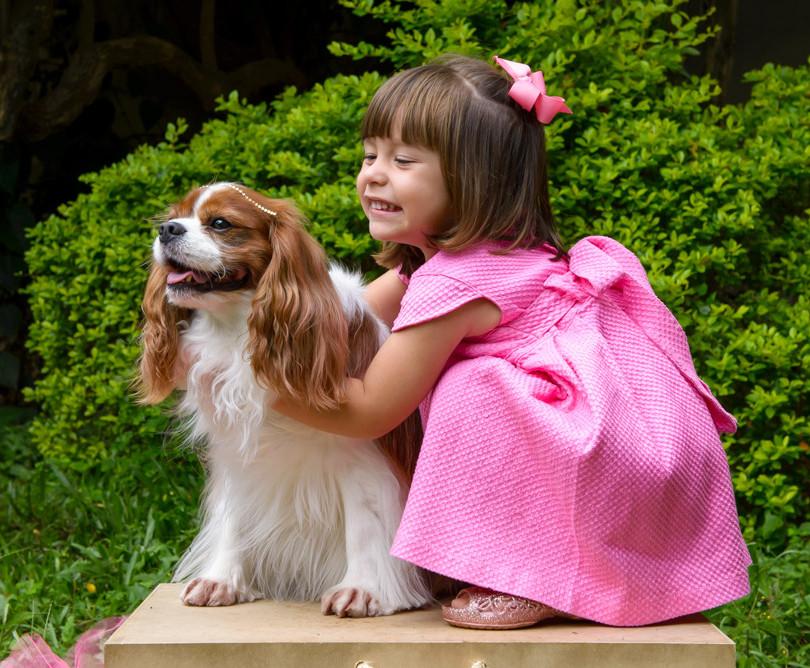ensaio de pets e crianças