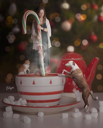 Chocolate quente no natal