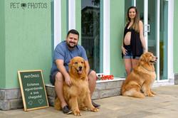 Familia e cachorro