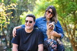 foto de familia com pet no parque