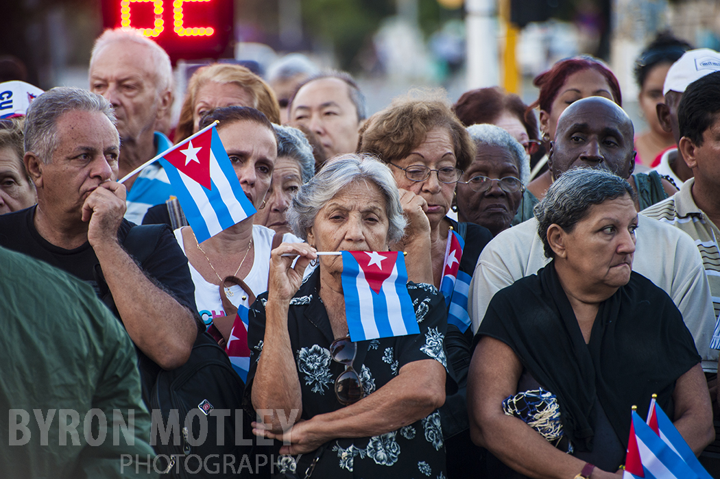 Mourners for Fidel Castro