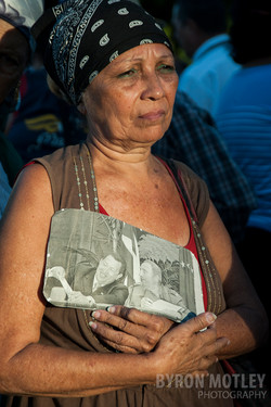 Mourner for Fidel Castro