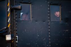 Amish Kids Peeking, Kentucky