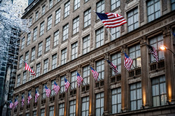 Flags in NYC