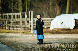 Amish Girl Waving - Kentucky