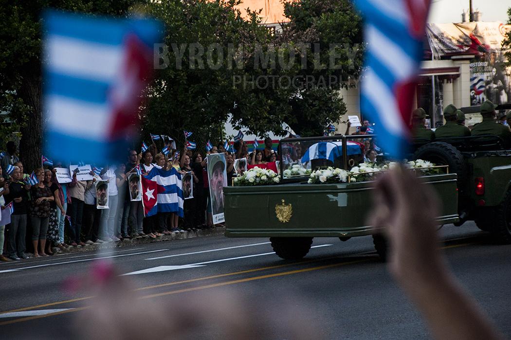 Fidel Castro's funeral caravan