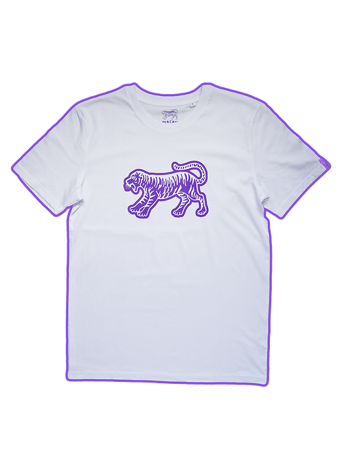 MACAN TEE (VIOLET/WHITE)