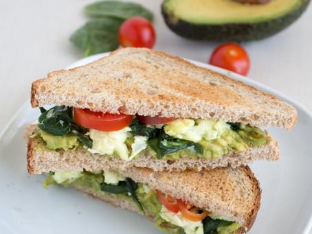 Avocado, Egg White & Spinach Sandwich