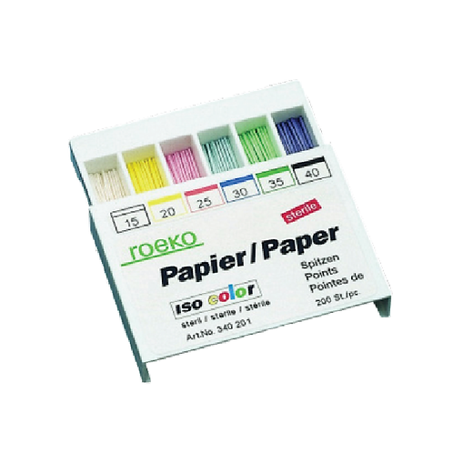 Roeko Paper Points Colour, 200pcs, ISO-Drawer Box