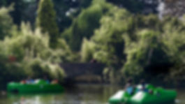 Dulwich Park boat house and lake offering pedalo and row boat hire