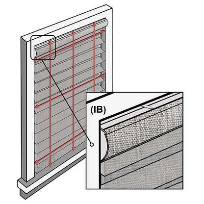 Schematic depicting positioning for inside mounted shades.