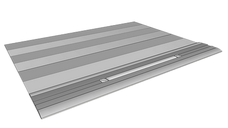 Schematic depicting a repositioned counter weight slide.
