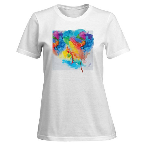 Women's white Hi Oktane T shirt, no text