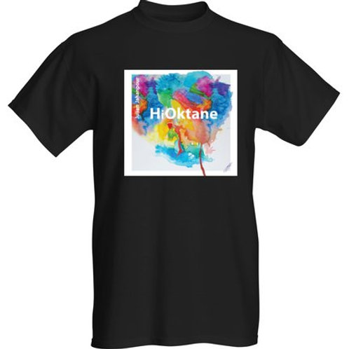 Black Hi Oktane T shirt with text