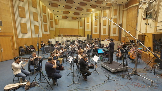Recording session in Budapest