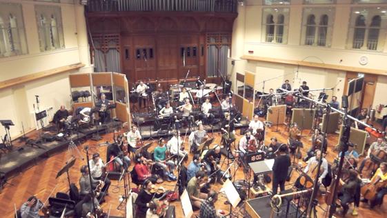 Recording session at Air Studios