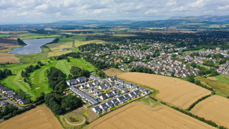 Auchinloch aerial shot.