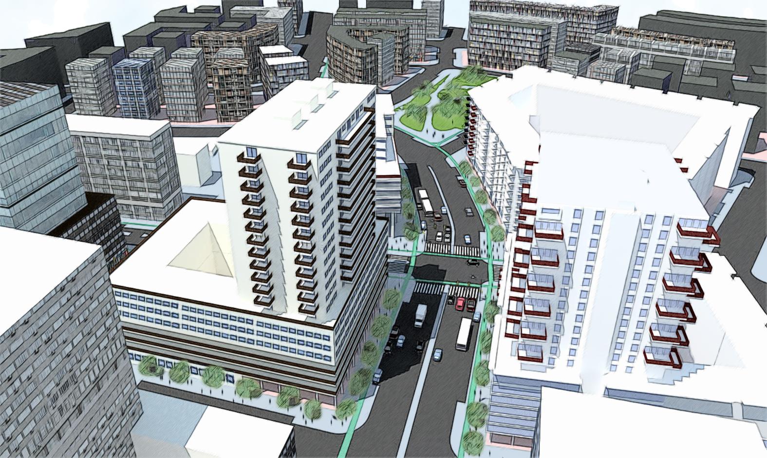 Urban Intersection - Main street