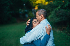 a couple embracing becauseof the pan of opioid and pain killer addiction