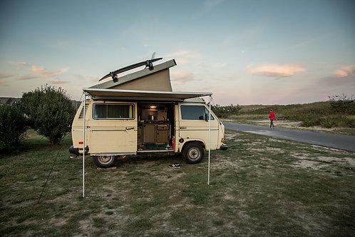 Camper on Road Side