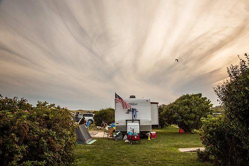 Camper in Open Space