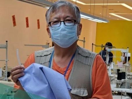 口罩專家Dr. K.Kwong派發十萬個口罩予本會會員