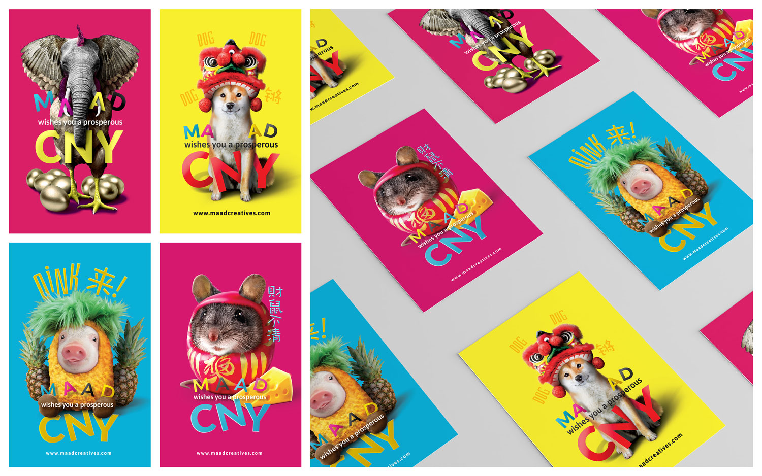 MAAD Creatives CNY Postcards