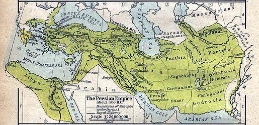 Perserreich um 500 v. Chr.