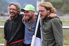 Die drei verdienten Sieger Andri, Janusch und Roger