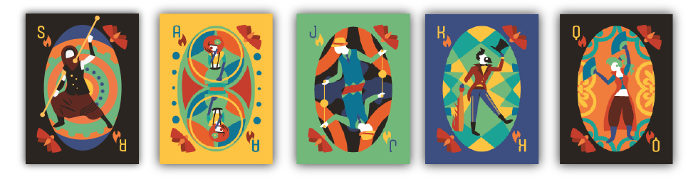 Graphic Design Playing Cards of Spark Society Members