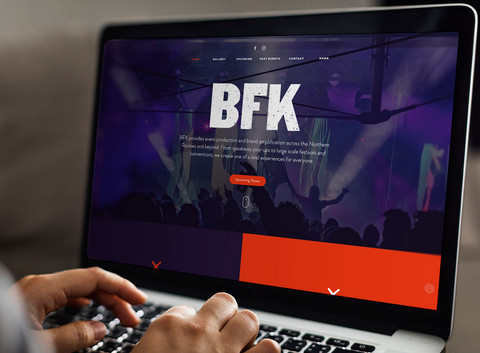 BFK Presents Website Design