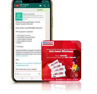 Alfamart Digital Voucher WhatsApp Platform