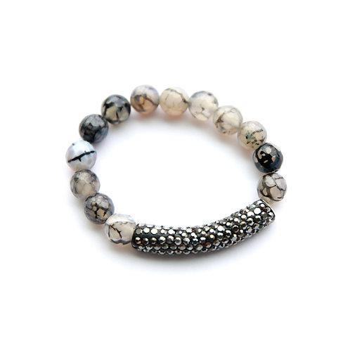 Black Pave Tube Bracelet