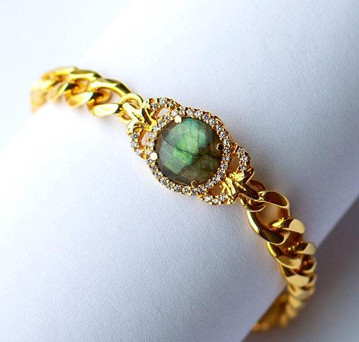 Ornate Labradorite Bracelet