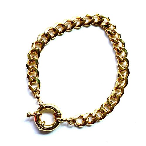 Curb Gold Sailor Bracelet
