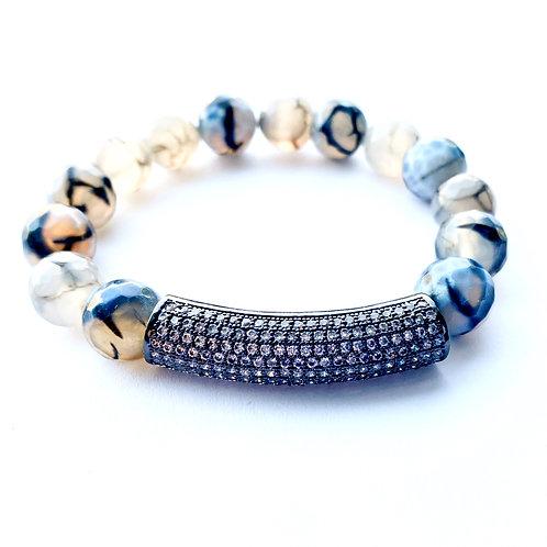Clear Pave Tube Bracelet