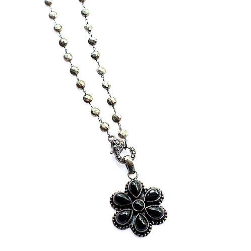 Wicker Park Black Flower