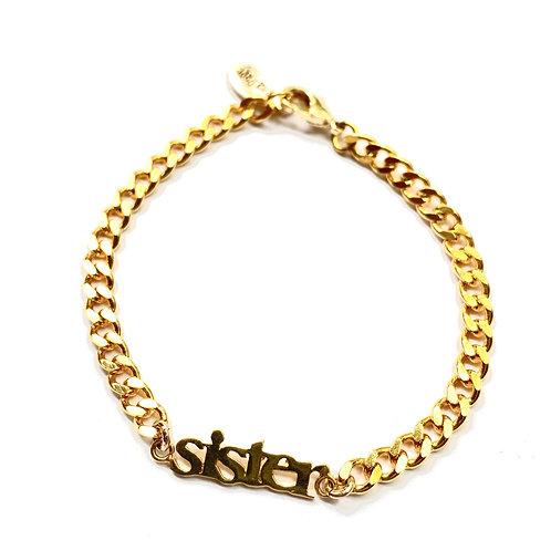 Curb Gold Sister Bracelet